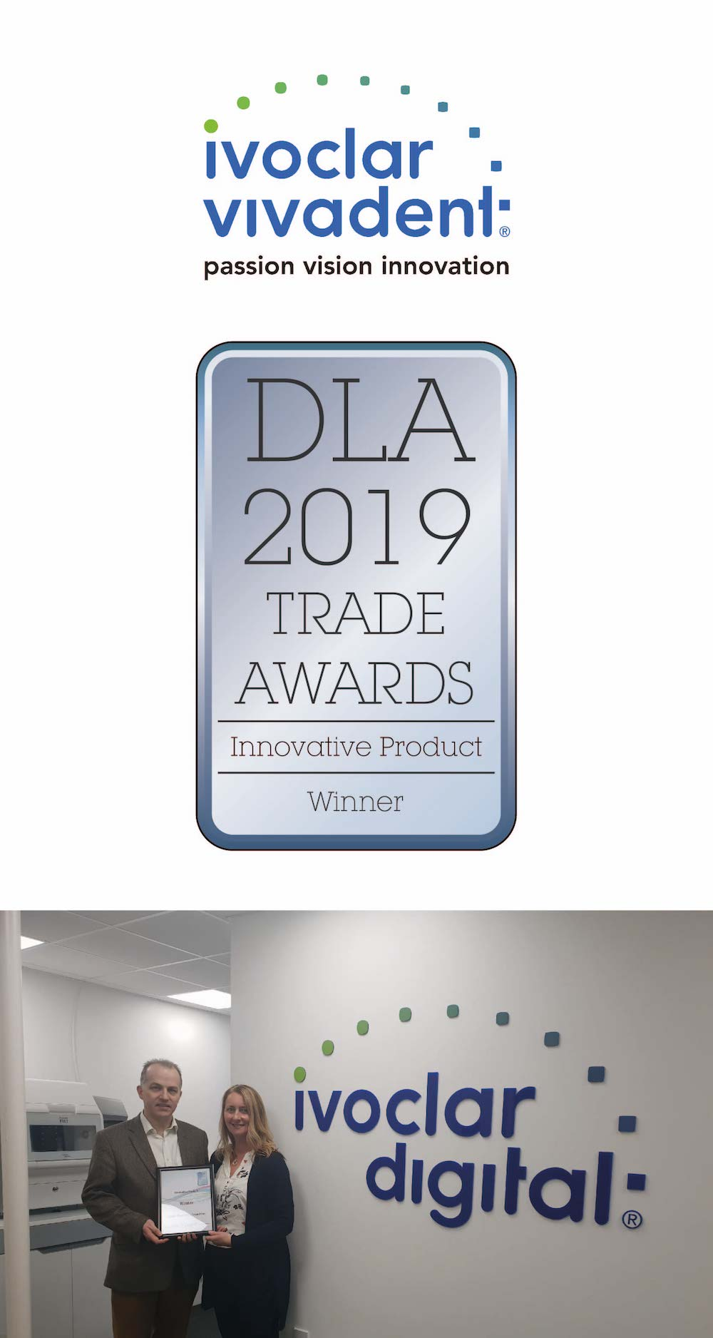 """""""Winner for 'Innovative Product of the Year' award for Emax Press, and highly commended for the 'International Company of the Year' award."""""""